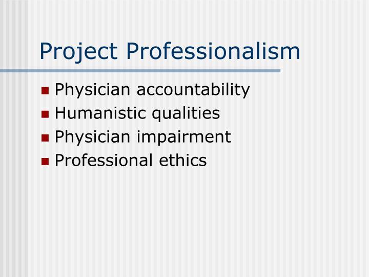 Project Professionalism