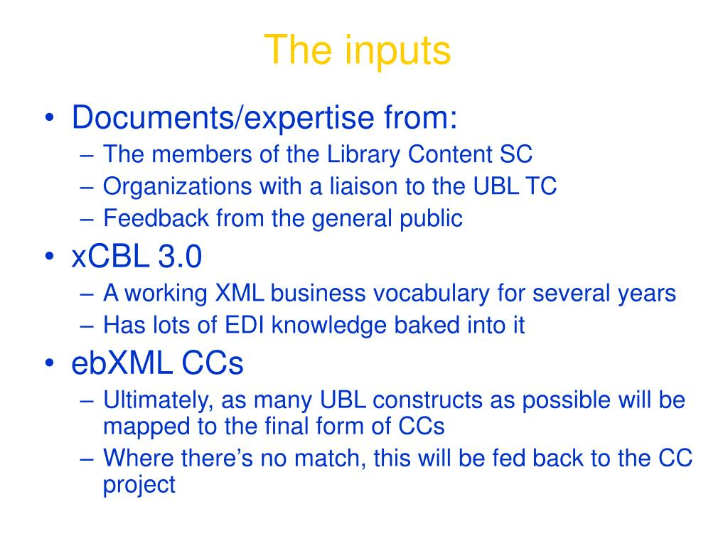 PPT - Business Vocabularies in XML (or, Toward a Universal