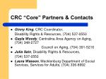 crc core partners contacts