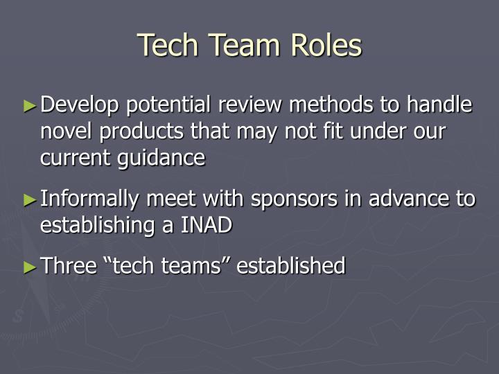 Tech Team Roles