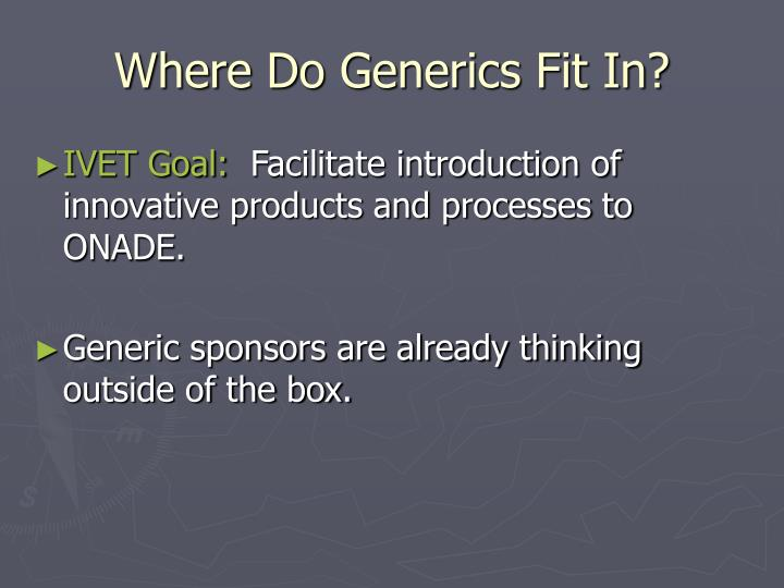 Where Do Generics Fit In?