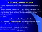 concurrent programming model