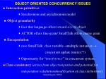 object oriented concurrency issues