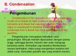 b condensation pengembunan