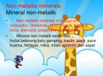 non metallic minerals mineral non metalik