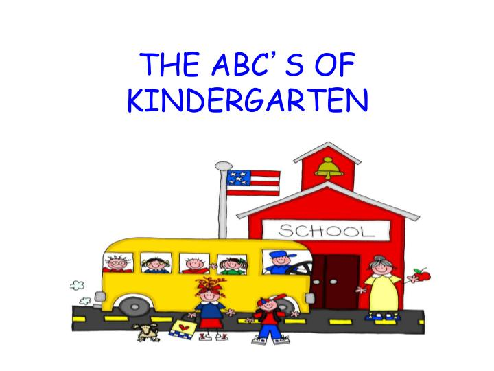 the abc s of kindergarten n.