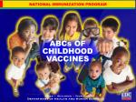 abcs of childhood vaccines