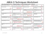 abea ci techniques worksheet
