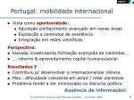 portugal mobilidade internacional