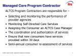 managed care program contractor