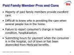 paid family member pros and cons