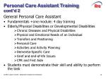 personal care assistant training cont d 2