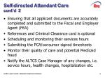 self directed attendant care cont d 2