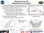 making precise co 2 measurements from space