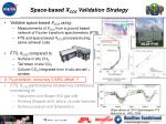 space based x co2 validation strategy