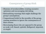 consequences of group think