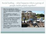 social loafing what happens when a group of people tackle a task together