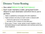 distance vector routing