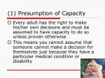 1 presumption of capacity