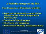 a mobility strategy for the era