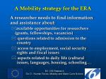 a mobility strategy for the era2