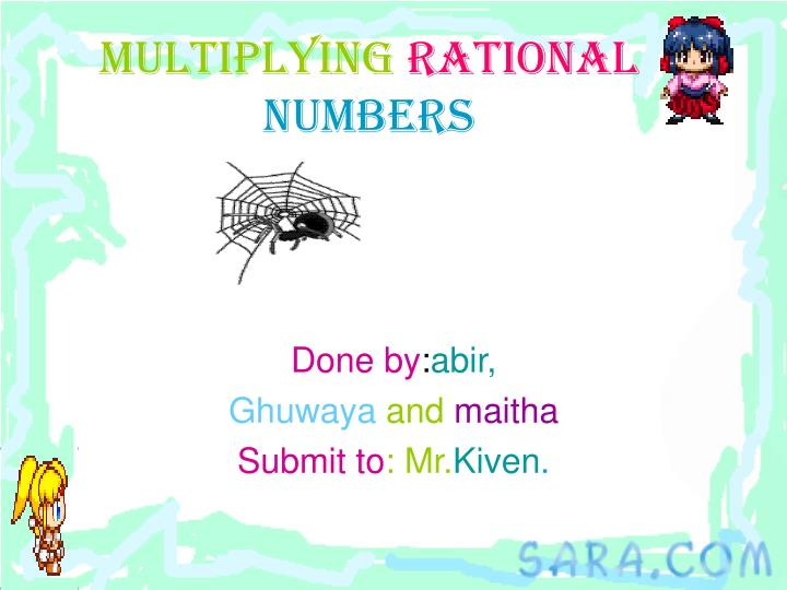 multiplying rational numbers n.