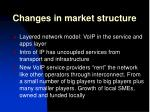 changes in market structure