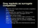 grey markets as surrogate competition