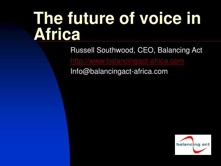 the future of voice in africa n.