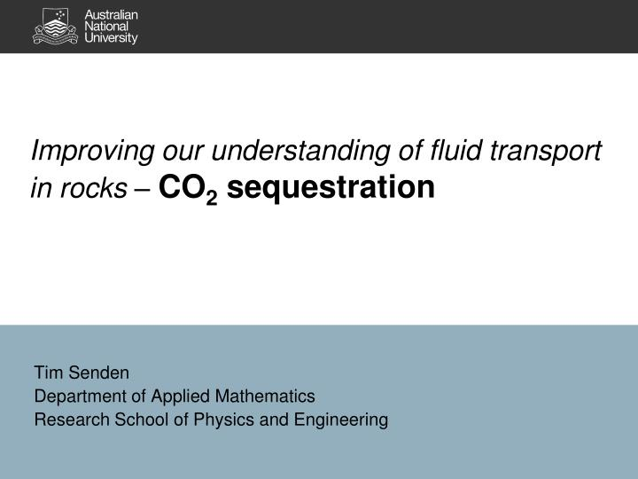 improving our understanding of fluid transport in rocks co 2 sequestration n.