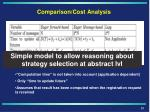 comparison cost analysis