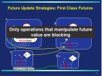 future update strategies first class futures