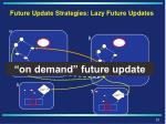 future update strategies lazy future updates