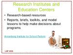 research institutes and education centers
