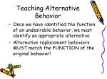 teaching alternative behavior