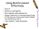 using reinforcement effectively1