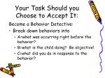 your task should you choose to accept it