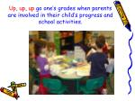 up up up go one s grades when parents are involved in their child s progress and school activities