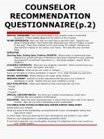 counselor recommendation questionnaire p 2