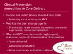 clinical prevention innovations in care delivery
