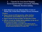 capacity for area based mapping environmental impact assessment planning ultimately decision making