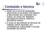 conte do x t cnica