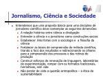 jornalismo ci ncia e sociedade