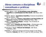 obras comuns a disciplinas conceituais e pr ticas