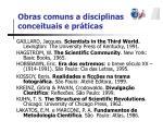 obras comuns a disciplinas conceituais e pr ticas1