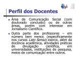 perfil dos docentes