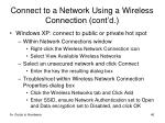 connect to a network using a wireless connection cont d1