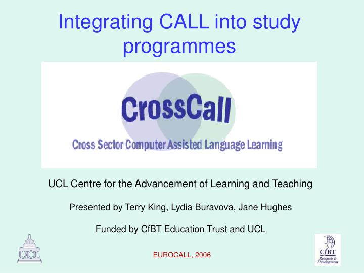 integrating call into study programmes n.