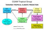 cgam tropical group towards tropical climate prediction