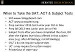 when to take the sat act subject tests